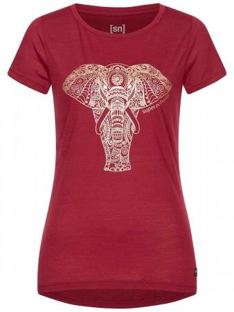 W YOGA POWER ELEPHANT T-Shirt 2021 rumba red/gold elephant