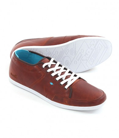SPARKO ORI LEATHER Schuh 2014 toffee/cyan/white sole