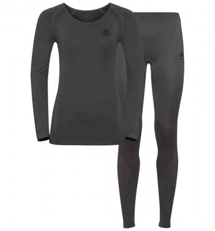 SET PERFORMANCE LIGHT WOMEN Longsleeve & Hose 2019 graphite grey/black