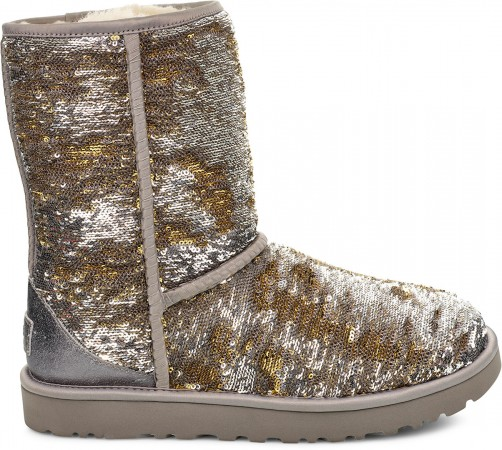 CLASSIC SHORT COSMOS SEQUIN Boots 2020 silver/gold