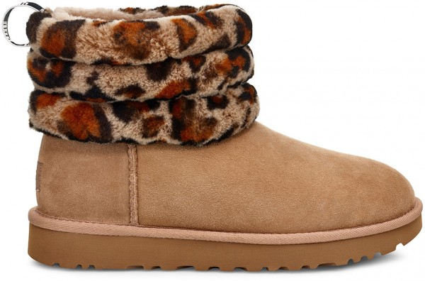 FLUFFY MINI QUILTED LEOPARD Stiefel 2020 amphora