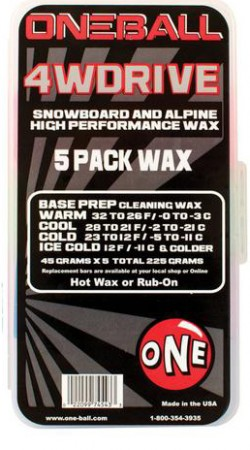 4WD 5 PACK SNOW Wax 2020