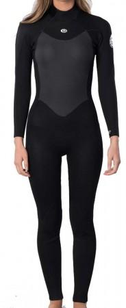 WOMENS OMEGA 3/2 BACK ZIP Full Suit 2022 black