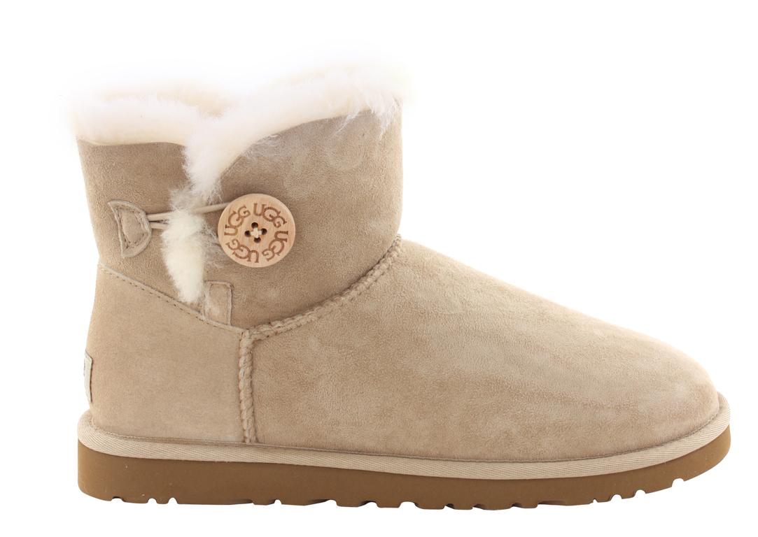 Ugg Boots Bailey Button Mini Sand