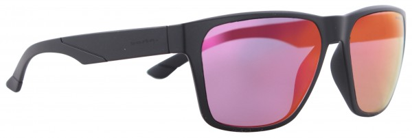 KONZY Sunglasses black matte/purple red mirror