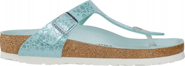 GIZEH Sandal 2019 metallic stones aqua