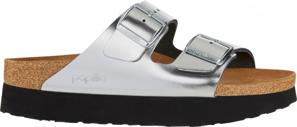 ARIZONA PLATFORM SLIM Sandale 2019 metallic silver