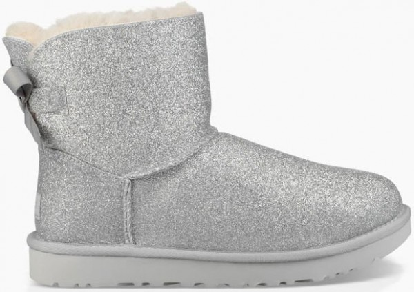 ebf6dc482c5 Ugg MINI BAILEY BOW SPARKLE Boots 2019 silver | Warehouse One