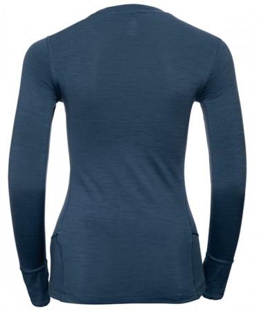 NATURAL WARM WOMEN Longsleeve 2020 blue wing teal/grey melange