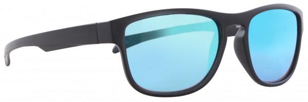 MARYSOL Sonnenbrille black matte/blue green mirror