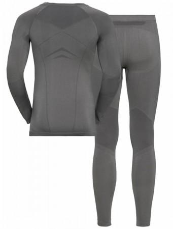 SET LONG PERFORMANCE EVOLUTION WARM Longsleeve & Hose 2020 steel grey/graphite