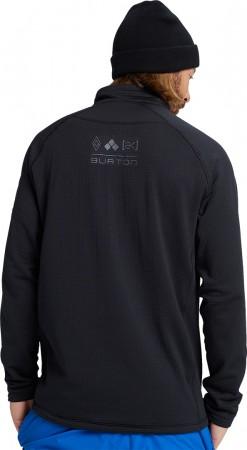 AK HELIUM GRID HALF ZIP Fleece 2021 true black