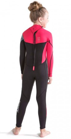 BOSTON YOUTH 3/2 BACK ZIP Full Suit 2020 hot pink