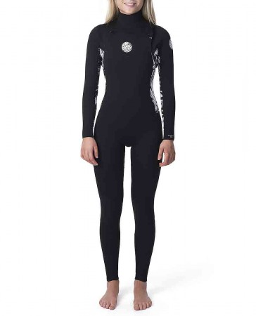 WOMENS DAWN PATROL 4/3 CHEST ZIP Full Suit 2020 black/black