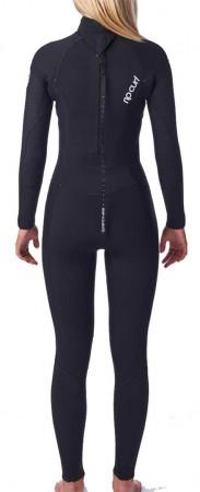 WOMENS DAWN PATROL 4/3 BACK ZIP Full Suit 2021 black