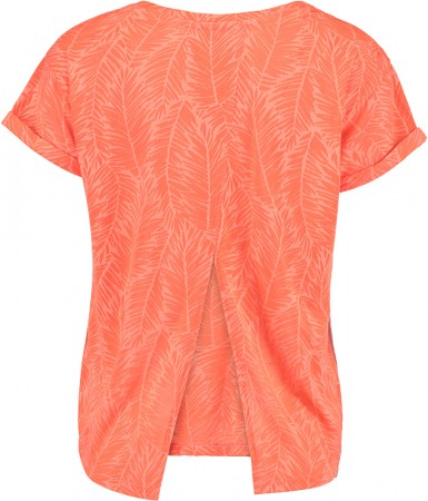 CROP SPLIT BACK T-Shirt 2017 fluoro peach