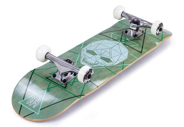 GEO SKULL Skateboard 2021 green