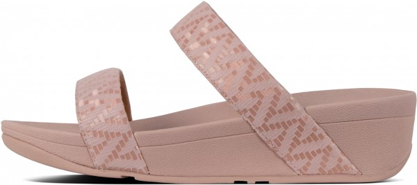 LOTTIE CHEVRON SLIDE Sandal 2019 oyster pink