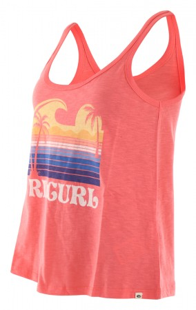 GOLDEN STATE SINGLET Top 2021 coral
