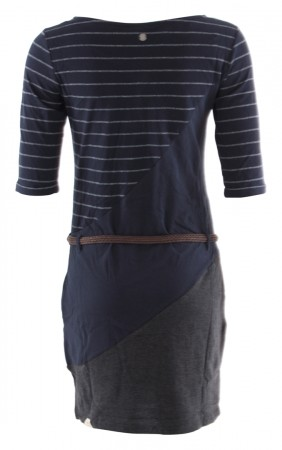 TANYA STRIPE ORGANIC Dress 2020 navy