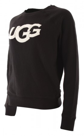 FUZZY LOGO CREWNECK Sweater 2021 black