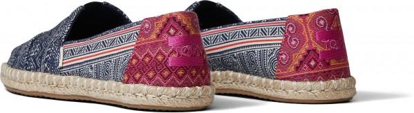 ALPARGATA ROPE Esparille 2021 indigo floral hmong print