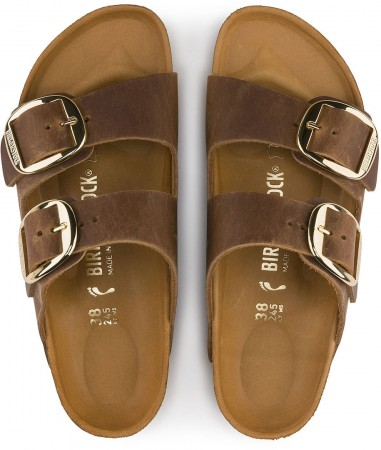 ARIZONA BIG BUCKLE SLIM Sandal 2020 cognac