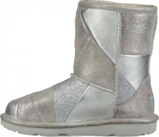 CLASSIC SHORT II PATCHWORK KIDS Stiefel 2019 silver