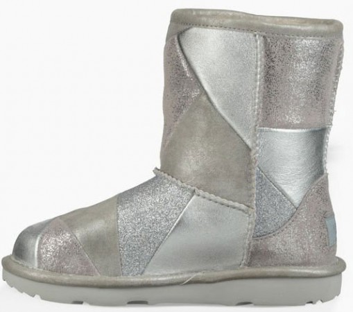 CLASSIC SHORT II PATCHWORK KIDS Stiefel 2019 silver