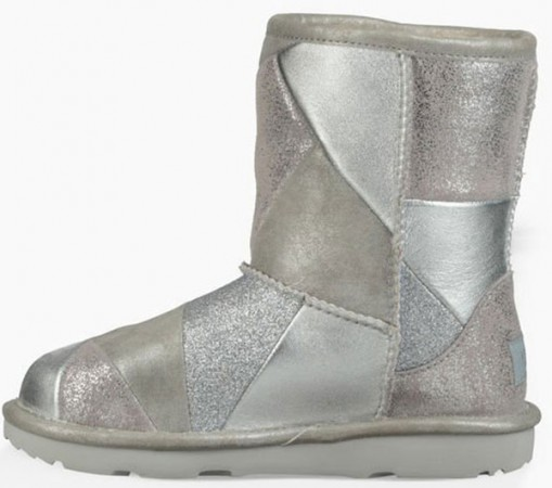 CLASSIC SHORT II PATCHWORK KIDS Boots 2019 silver