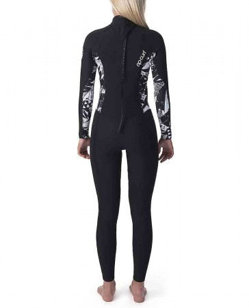 WOMENS DAWN PATROL 5/3 BACK ZIP Full Suit 2020 black/black
