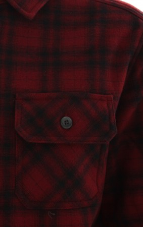 CURTIS LS HOODED BOY Flannelhemd 2017 brick