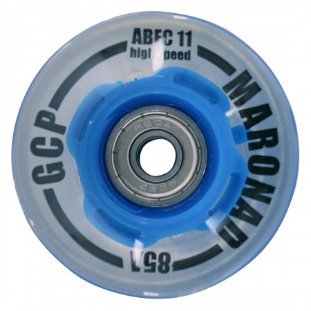 LED 60mm Cruiser 4er Rollenset blue translucent/clear