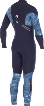 TOPOGRAPHIC 4/3 FRONT ZIP Full Suit 2019 dark blue