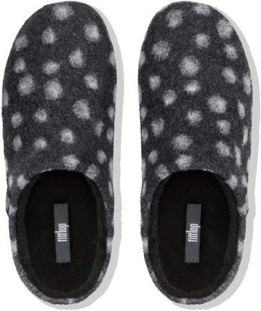 CHRISSIE DOTS Clog 2019 charcoal