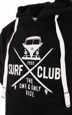 SURF CLUB Poncho 2019 black/white