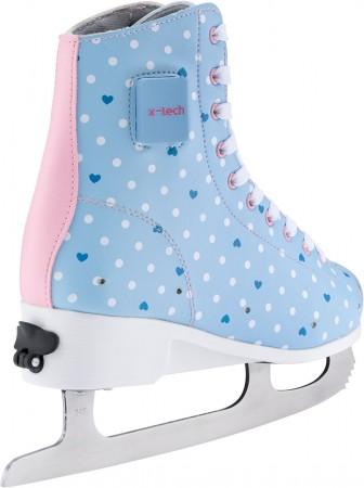 ICE STAR LED Schlittschuh lightblue/pink/white
