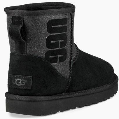 CLASSIC MINI LOGO SPARKLE Stiefel 2019 black