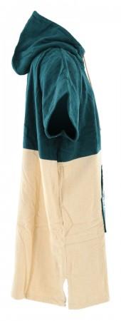 4020 COTTON VELOUR Poncho 2021 green/beige