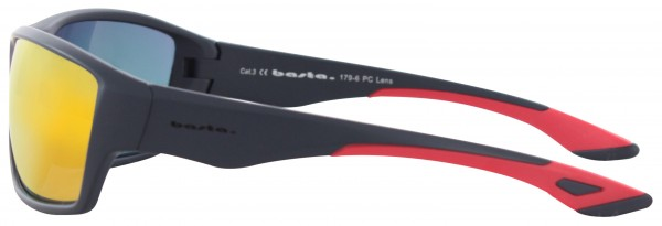 CHEPRE Sonnenbrille black matte/red orange mirror
