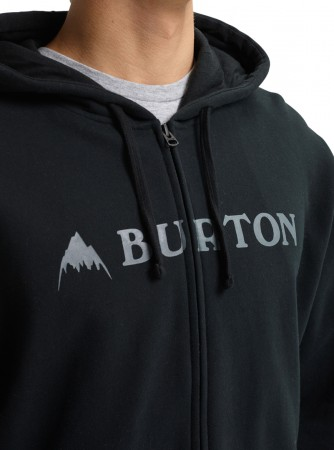 HORIZONTAL MOUNTAIN Zip Hoodie 2019 true black