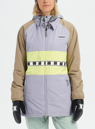 LOYLE COACHES Jacket 2020 lilac grey/timber wolf/sunny lime