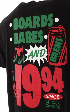 BOARDS BABES N BREWS T-Shirt 2020 black
