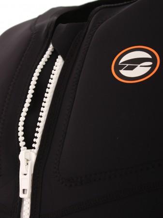 STRETCH ZIP Vest black/white