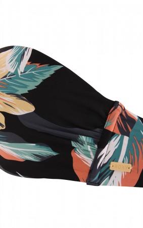 PRINTED BEACH CLASSICS BANDEAU Bikini Top 2020 anthracite tropicoco
