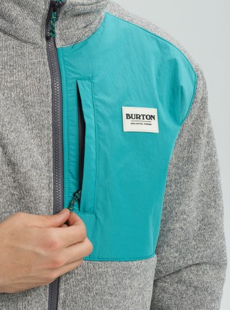 HAYRIDER Zip Fleece 2020 grey heather/green blue slate