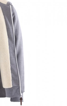 HEAVY ZH SHERPA Hoodie 2020 grey heather