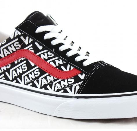 OLD SKOOL Schuh black/white/red