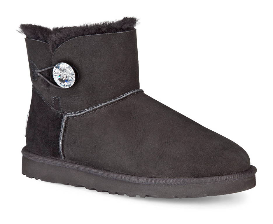 b600011ed34 Ugg MINI BAILEY BUTTON BLING Boot 2019 black | Warehouse One
