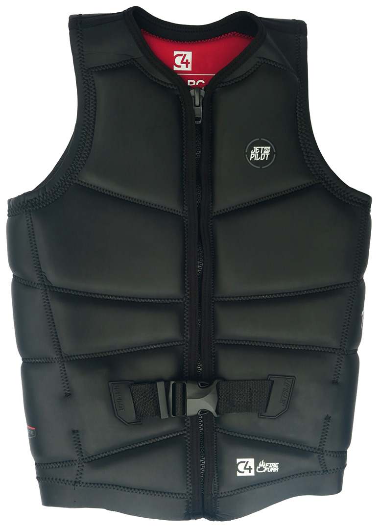 JET PILOT Wakeboard Weste C4 FIREFURR Weste 2018 black Prallschutzweste Neo Vest Bekleidung